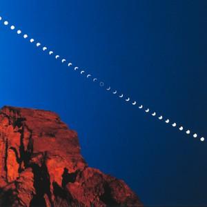 alignement lune et soleil pour l'éclipse