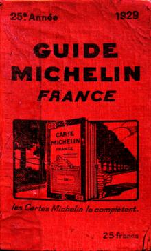 Couverture Guide Michelin 1928 - histoire des vacances