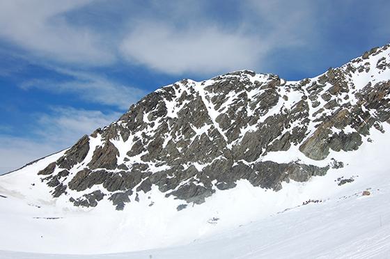 Image : Paysage en haut du glacier Chiaupe