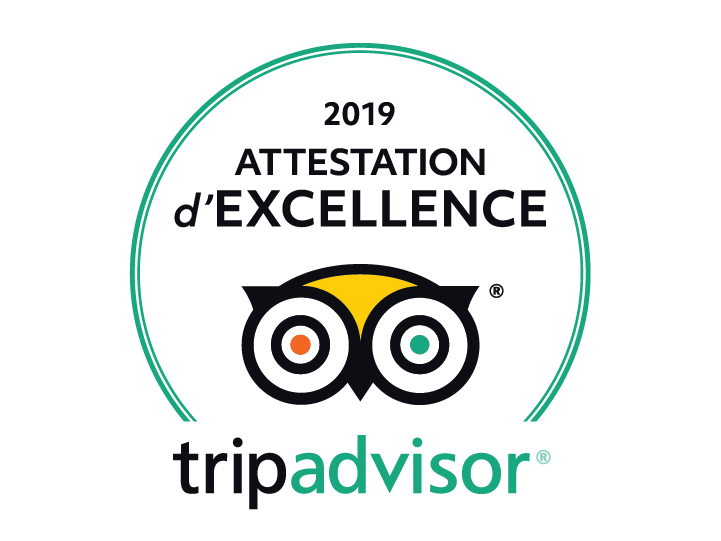 logo attestation d'excellence TripAdvisor