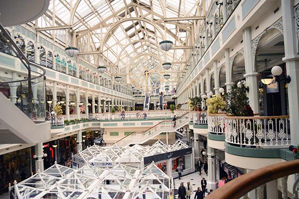 intérieur centre commercial dublin