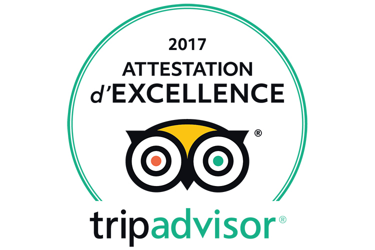 attestation excellence tripadvisor 2017