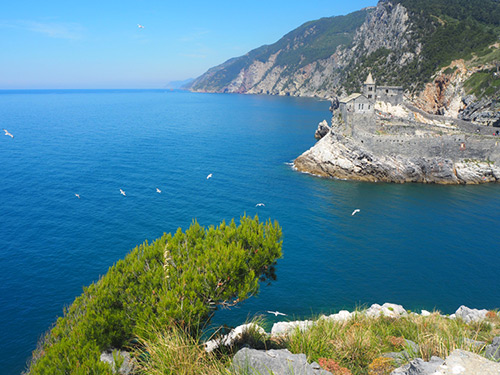 balade sur l'île de Palmaria, Italie