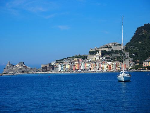Vue du bateau de Porto Venere, Italie