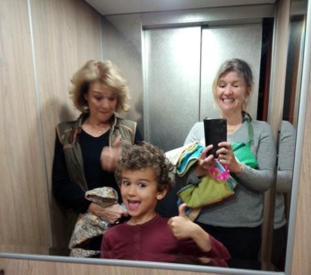 selfie famille à Saint Sauves